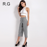RockGeorge Fashion Work Wear Women S Pants Black White Houndstooth Wide Leg Trousers Office Business Formal