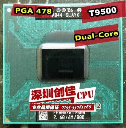 Frete Grátis laptop CPU intel Core 2 Duo T9500 CPU 6 M Cache/2.6 GHz/800/Dual-Core Soquete 479 processador de Laptop para GM45 PM45