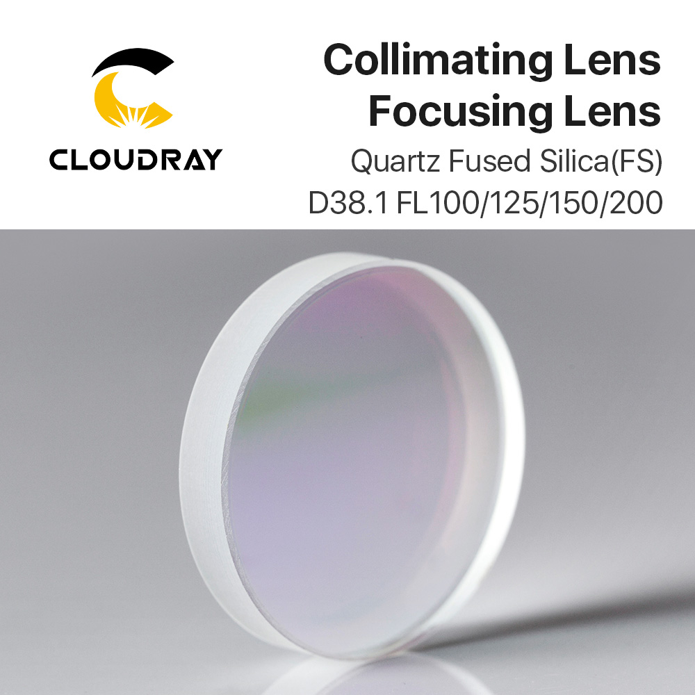 Cloudray Spherical Collimating Focusing Lens D38 1 F100 125 150 200 Quartz Fused Silica for High
