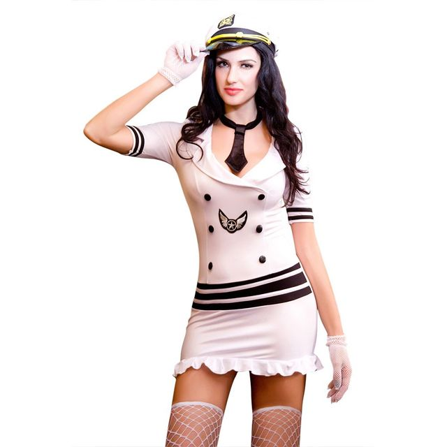 White Sexy Adult Women Police Costume Plus Size Policewoman Fancy