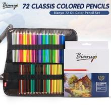 Bianyo 48/72Pcs Color Pencil Set Lapis De Professional Artist Painting Oil Color Pencil For Drawing Sketch School Art Supplies