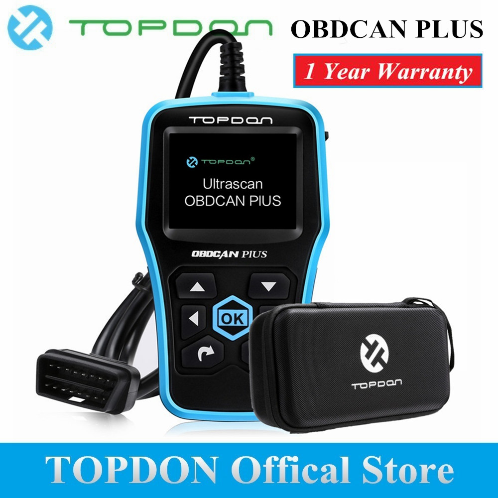 Topdon Car OBD2 Scanner Plus Professional Car Diagnostic Scanner OBD2 Full Function with DTC Lookup and Free Update