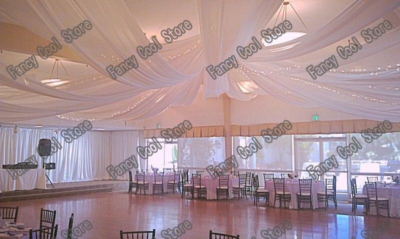 de luxe de mariage plafond drap draperie 14 m 459ft de long x - Drap Plafond Mariage