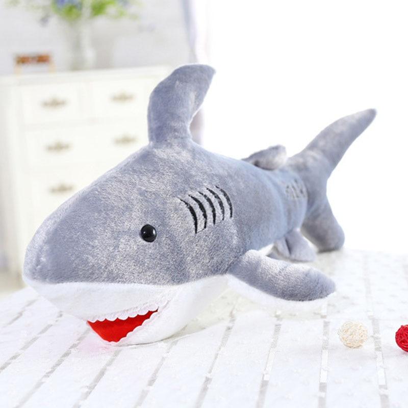 Aliexpress.com : Buy 50cm giant shark plush shark whale stuffed fish ocean  animals kawaii