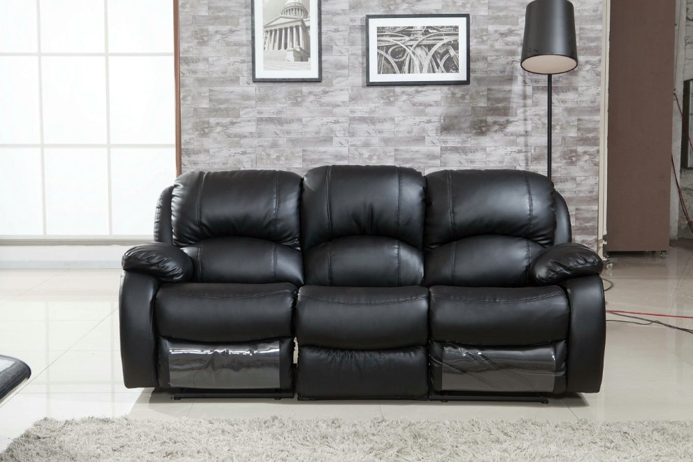 Muebles Sofas For Living Room Furniture Leather Recliner Sofa 3seater