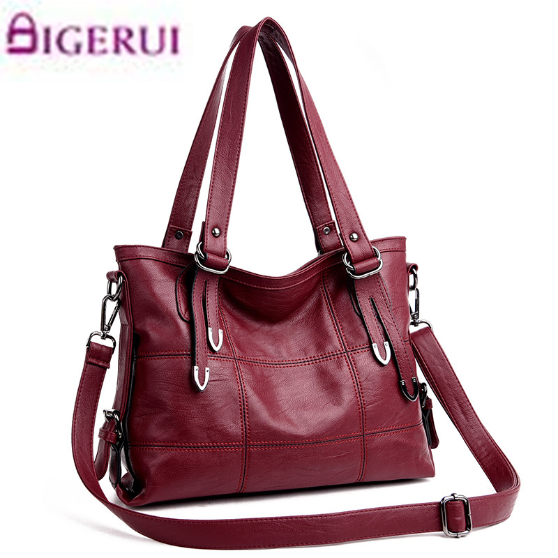 New  Fashion Genuine  Leather Women Messenger Bags Ladies Big Casual Shoulder Bags Brand Woman Handbags Bolsa Feminina Preta Sac women bucket bag package fashion bolsa feminina casual soft clutch ladies leather shoulder bags tote messenger bolso mujer 2017