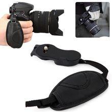Correia de pulso de couro falso, correia de alta qualidade para câmera, acessórios de estúdio fotográfico para nikon, canon, sony, dslr câmera fotográfica para câmera