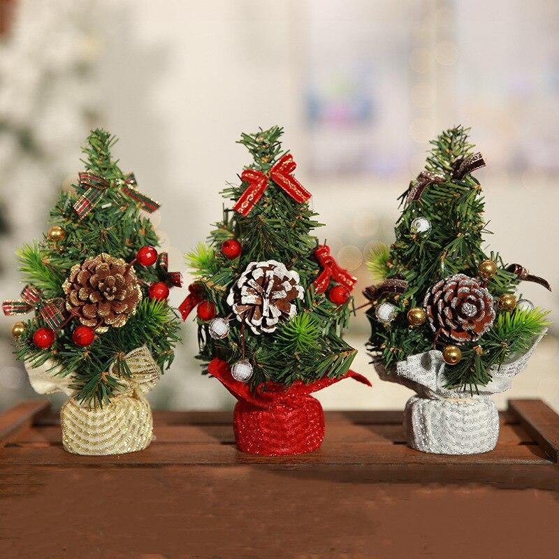 22 cm Navidad 2018 Mini árbol de Navidad decoraciones de ... - photo#37