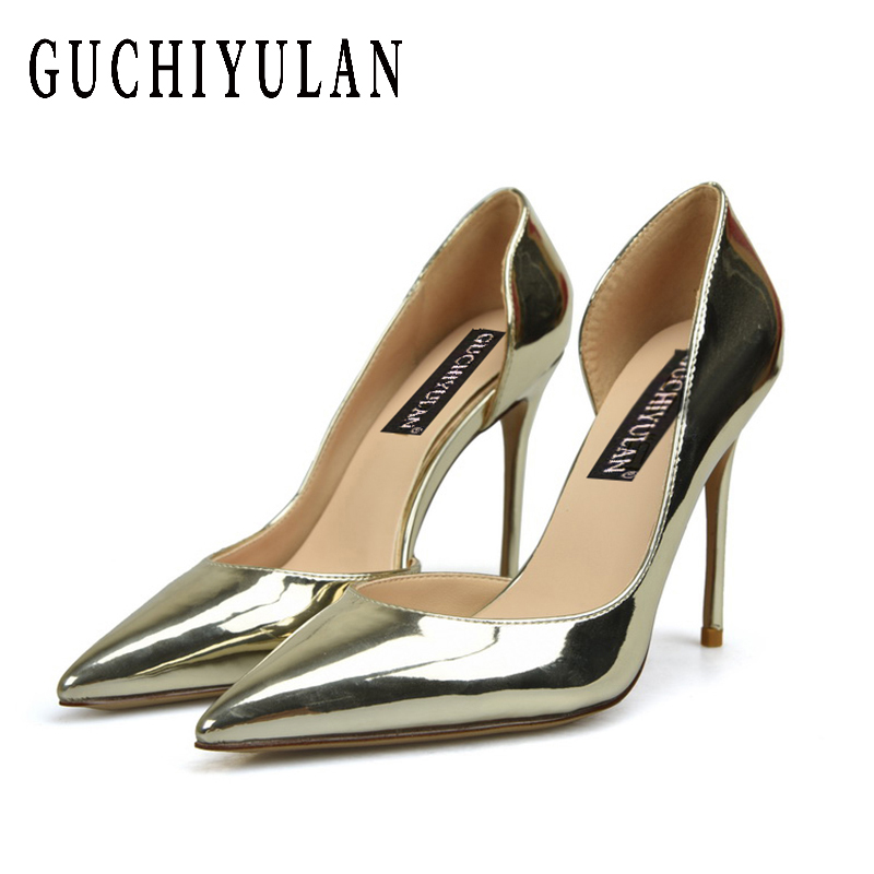 2b1b8dd0f54 Shoes Woman High Heels Pumps Nude High Heels 10CM Women Shoes High Heels  Wedding Shoes Pumps Black Nude Shoes Heels Gold Silver