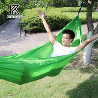 One Person Parachute Hammock Portable Army Survival Hammocks Travel Camping Sleeping Hammock Swing Canvas Stripe 230