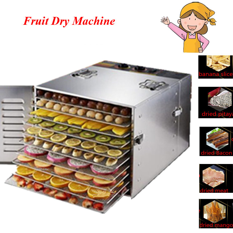 EU/UK/US Plug Food Dehydrator Fruit Vegetable Herb Meat Drying Machine Snacks Food Dryer Fruit Dehydrator With 10 Trays professional commercial 980w food dehydrator fruit vegetable herbal meat drying machine snacks food dryer fruit dehydrator