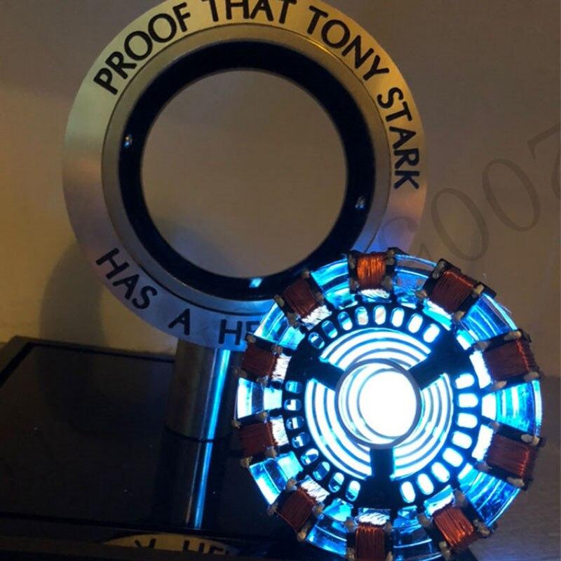 Iron Man Arc Reactor DIY 1:1 Remote Light Avengers Action Figure Arc Reactors MK Iron Man DIY Model Assembled Chest Lamp Toys
