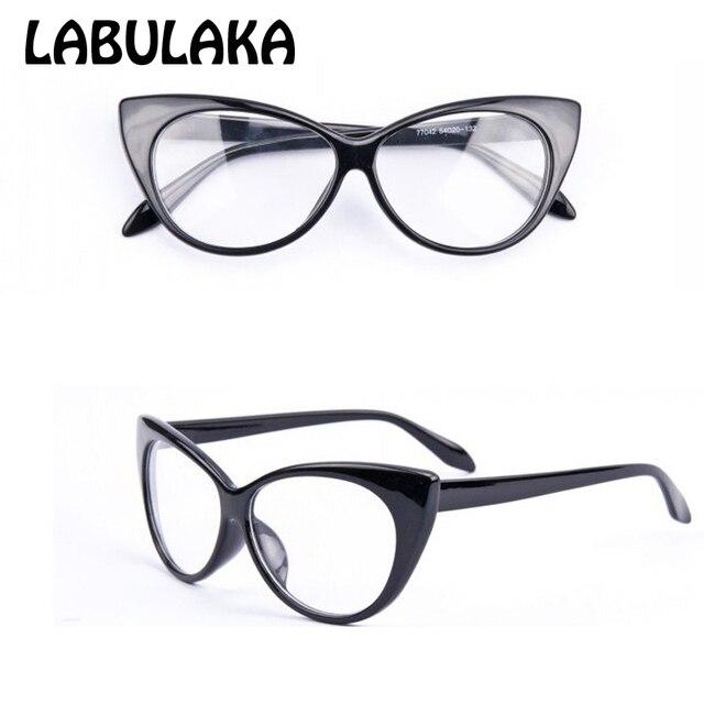 2017 marca new designer cat eye glasses moda retro mulheres negras óculos de armação das mulheres óculos óculos de lente clara do vintage
