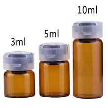 3/5/10ML Essential Oil Container Empty Sterile Glass Sealed Sterile Serum Vials Liquid Storage Bottle With Rubber Inserts Lid empty syringes only disposable sterile 3 ml 100 bx