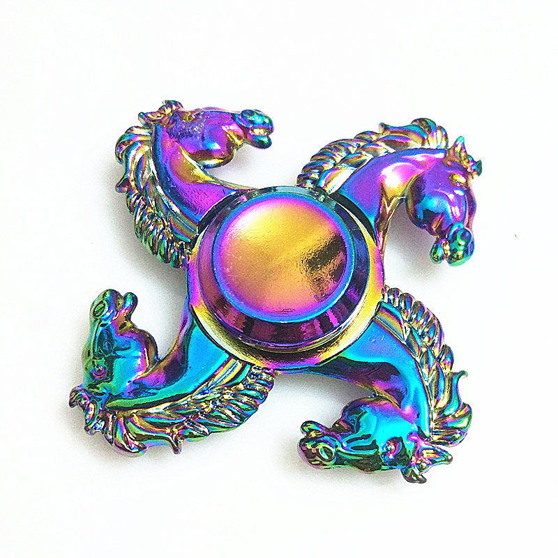 053 High Quality Fidget Spinner Metal Rainbow Dragon Hand Finger Spinners Autism ADHD Focus Anxiety Relief Stress