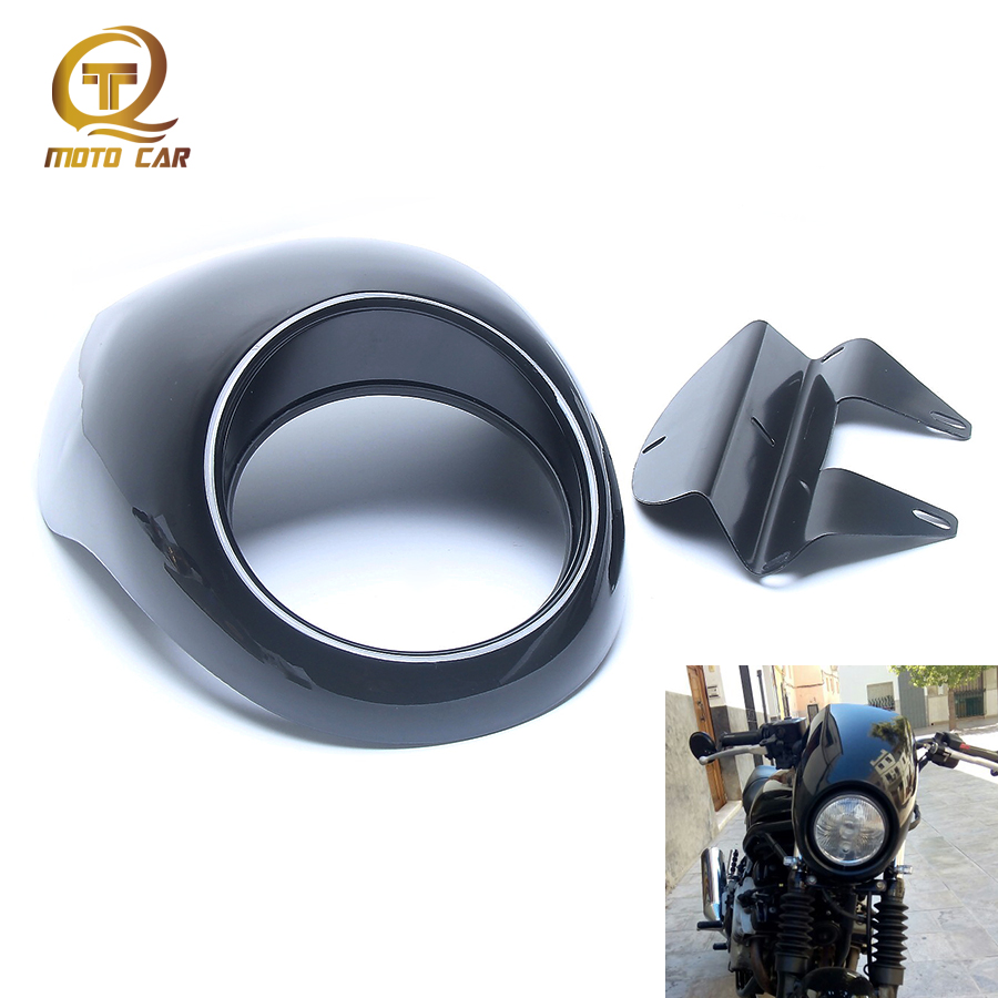 Motorcycle Headlight Fairing ABS Plastic Front Cover Cowl Custom Mask For Harley Davidson XL883 1200 883n 1200L DYNA Accessories black smoke gauntlet fairing front cowl fork headlight custom mask for harley sportster dyna xl1200l xl883c undefined