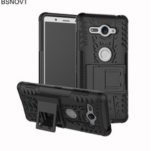For Sony Xperia XZ2 Compact Case Dual Layer Phone Holder Armor Anti-knock Case For Sony Xperia XZ2 Compact H8314 Funda BSNOVT сотовый телефон sony xperia xz2 compact silver
