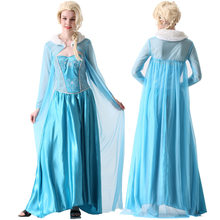 Mulheres vestido anime cosplay para neve branca alice no congelado wonderland traje adulto vestidos hairpiece no halloween carnaval festa(China)