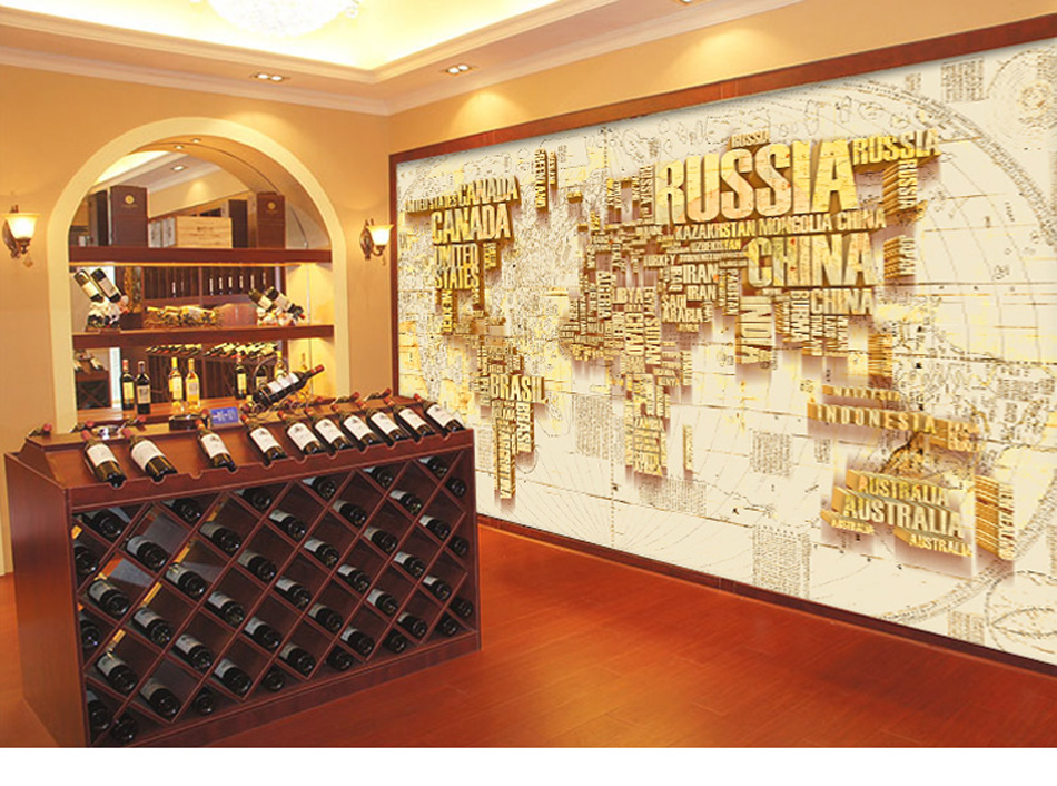 Any Size Custom DIY 3d Wallpaper Mural Rolls Russia Canada World Map for Office Hotel Restaurant Bar KTV Living Room Background canada in the world economy
