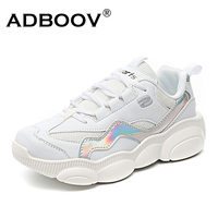 ADBOOV 2019 New Spring Bear Sneakers Women Bling Casual Flat Shoes Woman Zapatillas Mujer White Black