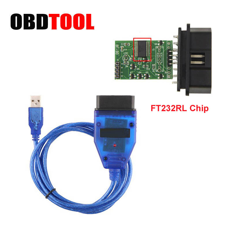 2018 Hot FT232RL CH340 Chip VAG KKL Cavo USB Diagnostico VAG Interfaccia USB OBD2 OBDII Auto Scan OBD Cavo Per serie AD Per VAG