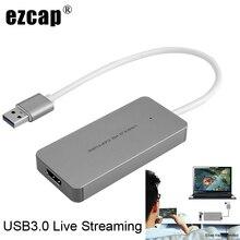 USB 3,0 TypeC Карта видеозахвата HDMI к USB3.0 ТВ коробка видеокамера игра прямая потоковая запись ключ для PS3 PS4 XBox one телефон