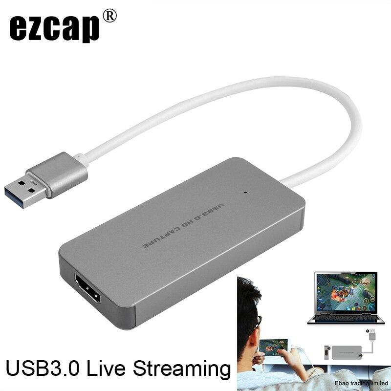 USB 3.0 TypeC vidéo Capture carte HDMI à USB3.0 TV BOX caméscope jeu en direct Streaming enregistrement Dongle pour PS3 PS4 XBox one téléphone