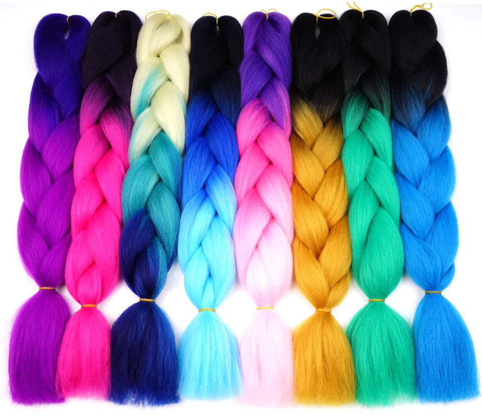 Beyond Beauty Ombre Jumbo Synthetic Braiding Hair Crochet Hair Extensions Jumbo Braids Hairstyles