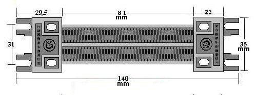 200W AC DC 220V Insulated PTC ceramic air heater Electric Heater Parts