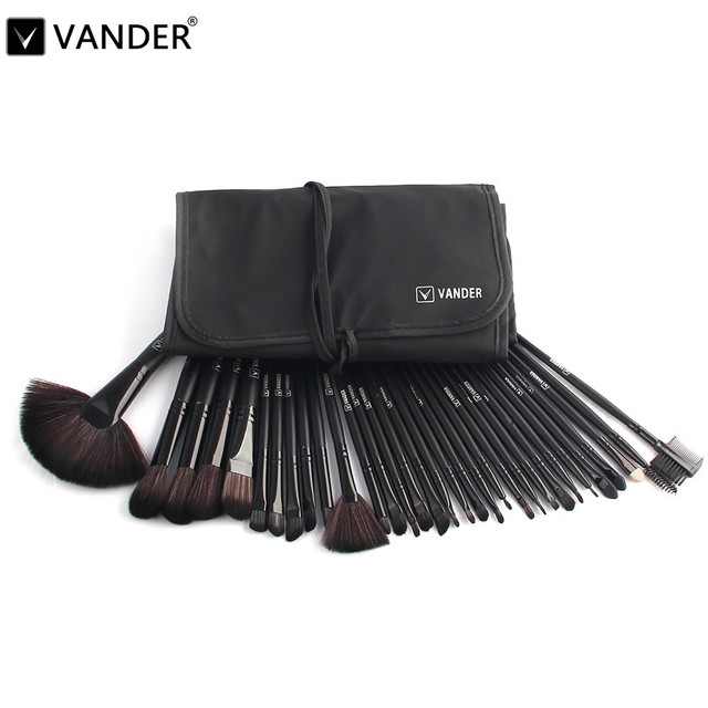 32pcs Makeup Brush Sets Professional Cosmetics Brushes Eyebrow Powder  Lipsticks Make Up Tool Kit Pouch Bag pinceaux maquillage 344f4d82239af