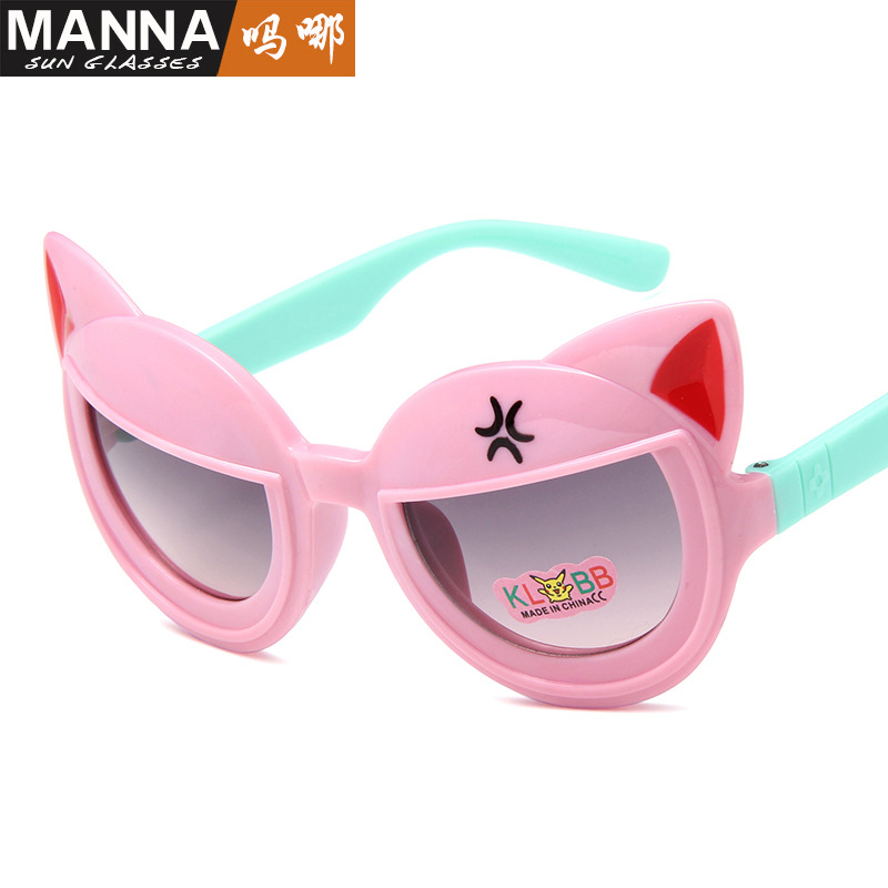Winszenith 259 nueva moda niños gafas de sol cartoon modelado encantador niños anteojos bebé salir sol