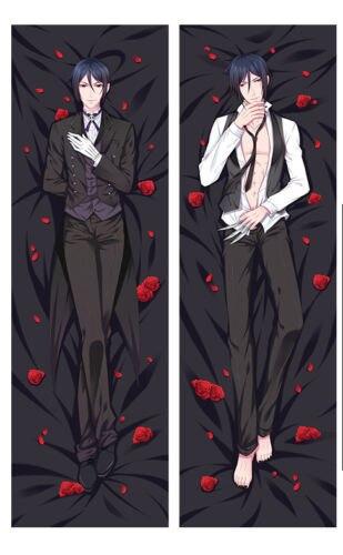 Japan Anime Hugging Body Pillow Case 150*50 Black Butler Sebastian Michaelis