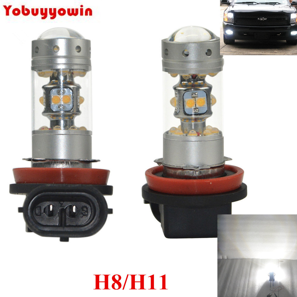 2 Pieces CREE Chips Led H11 For HONDA CIVIC FN2 H11 LED FOG Daytime Light Lamp bulb CANBUS ERROR FREE 80W BRIGHT WHITE free shipping 2x80w h7 canbus error free cree xbd chips super bright high power led car fog light auto fog lamp bulb