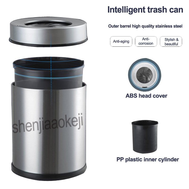 Spiral Intelligent induction charging trash home kitchen living room bathroom,office Sensor Automatic Trash Can 1PCSpiral Intelligent induction charging trash home kitchen living room bathroom,office Sensor Automatic Trash Can 1PC