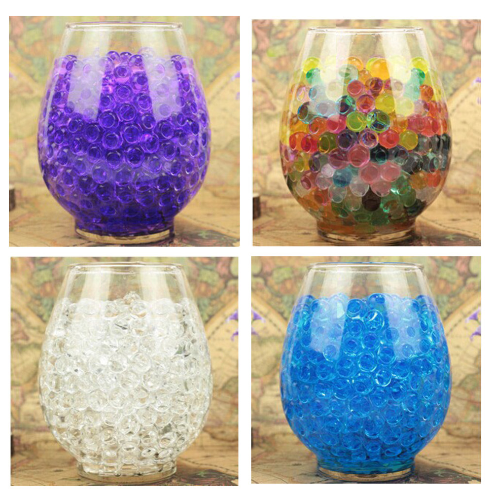 5000PCS/ Bag Pearl Shaped Crystal Soil Water Beads Mud Grow Magic Jelly Balls Home Decor Aqua Soil Wholesales