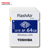 TOSHIBA WiFi Memory Card 32GB 16GB 64GB SD Card 32GB Class 10 U3 FlashAir W 04 Memory Card Flash WiFi SD Card For Digital Camera