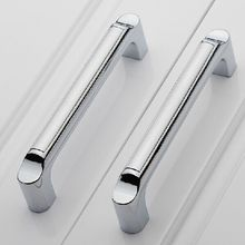 modern fashion  kitchen cabinet handles shiny silver dresser pull128mm drawer cupbord wardrobe furniture handles pulls knobs