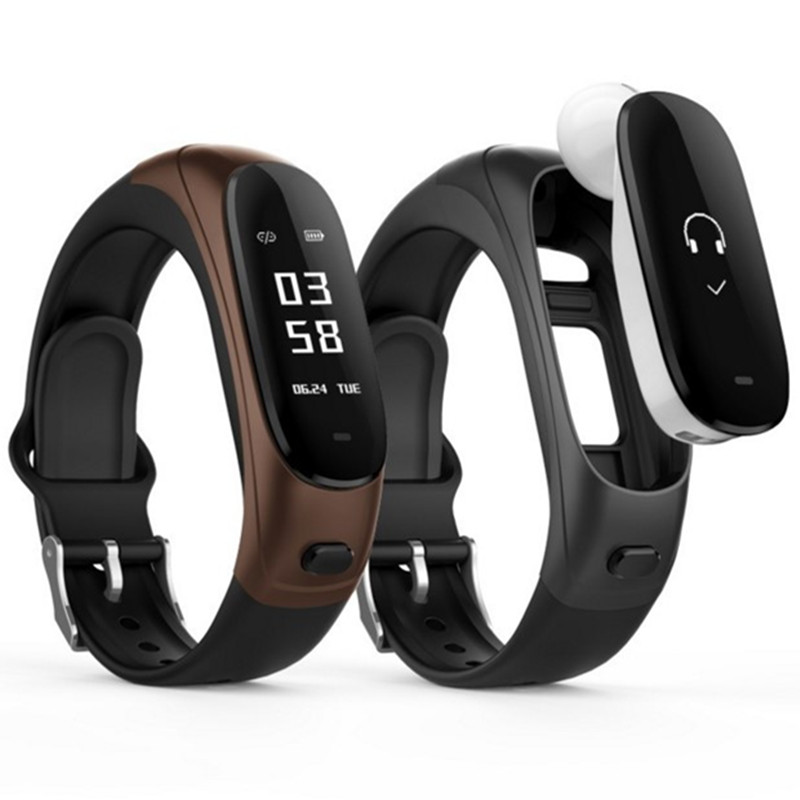 Bracelet de pression artérielle de fréquence cardiaque intelligente haut de gamme mouvement de sommeil de santé bracelet d'affaires Bluetooth appel de casque amovible