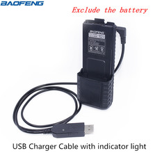 Cable Battery Usb-Charger Walkie-Talkie Uv-5r-Series Baofeng with Indicator-Light