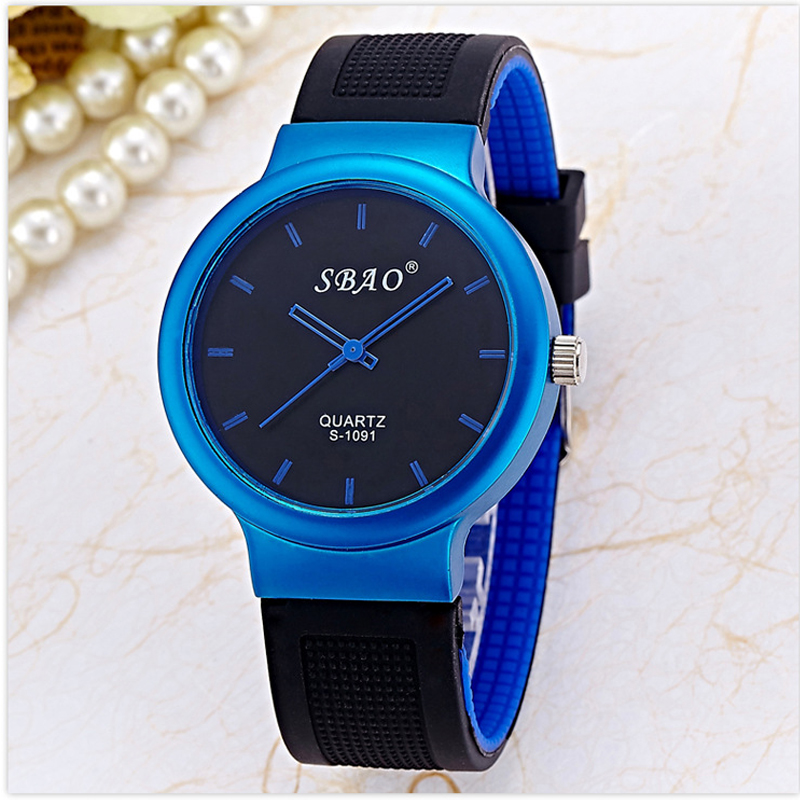 2017 Sbao Silicone Fashion Watch Women Casual Children Watches men Brand Luxury Mens Girl Female StudentS