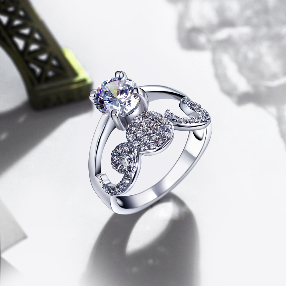Unique design Ring! Free Shipping Crown Shape Wedding Rings for Bride Girls A Quality Party Gift Fashion Jewelry Women Rings