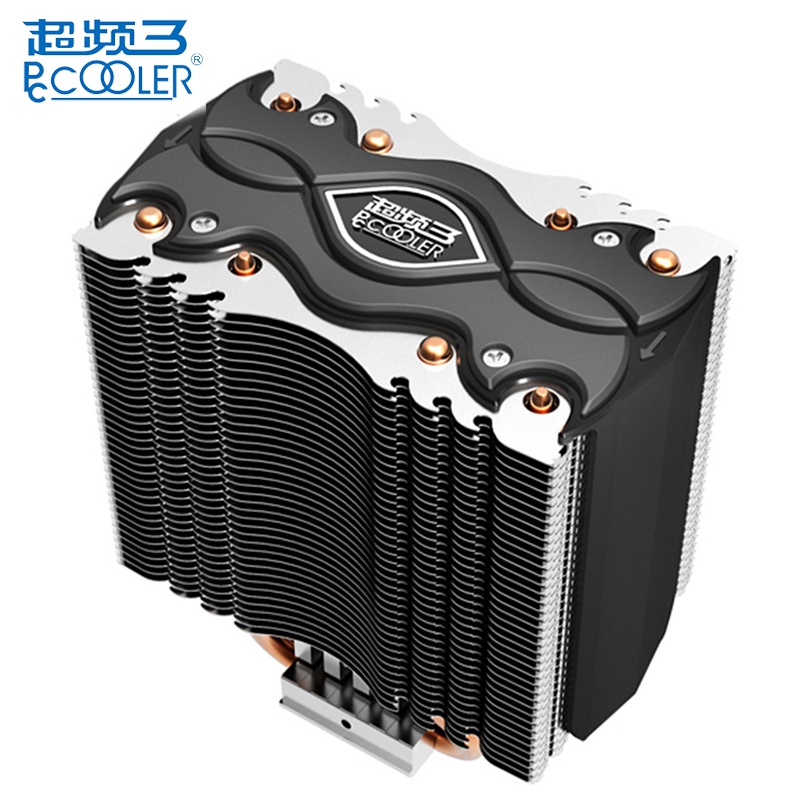 PCCOOLER S102 Twin Tower Design 4 Copper Heat Pipes CPU Cooler Cooling Fans Heat Sink For Intel LGA 1150 1155 For AMD AM2 AM3 pcooler s90f 10cm 4 pin pwm cooling fan 4 copper heat pipes led cpu cooler cooling fan heat sink for intel lga775 for amd am2