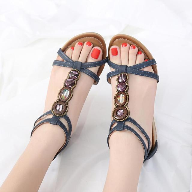 f9d055fad2386 2019 Summer Bohemian Women Flat Sandals Fashion Shoes Casual Occasions Comfortable  Beach Sandals Shoes Open Toe Shoes  AA