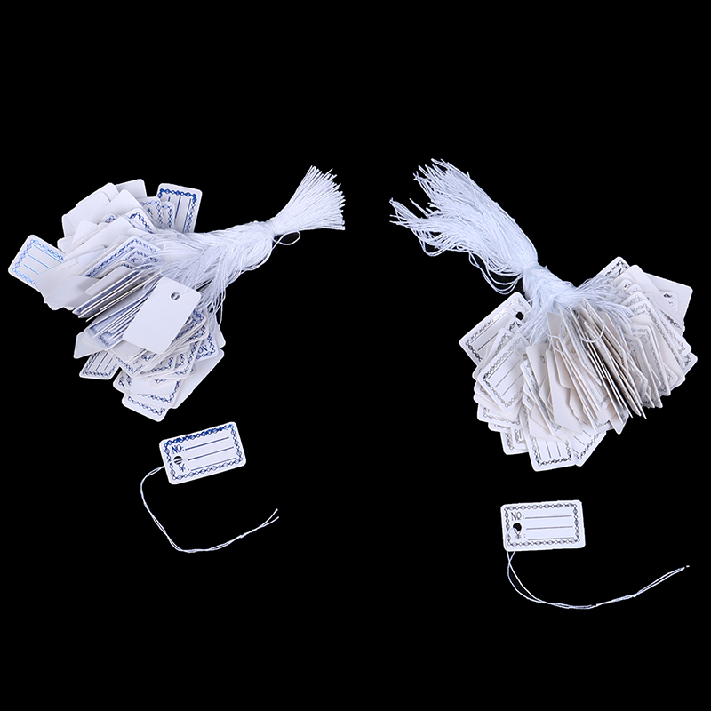 100pcs Price Label Tags with Hanging String for Jewelry / Stationery / Shoes / Clothing Garment Tags Accessories