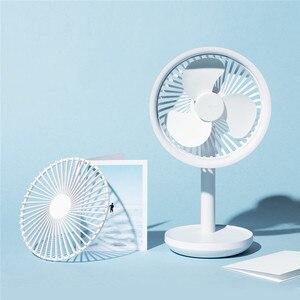 Image 5 - Настольный вентилятор SOLOVE с вибрационной головкой, 60 градусов, 4000 мАч, USB, перезаряжаемый, 3 режима, скорость ветра, охлаждение, Осциллирующий вентилятор, черный/розовый