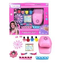 Girls Fashion Nail Art Toy DIY Beauty Eduactional Toys For Children Hobby Craft Pretend Play Funny Makeup Artist oyuncak