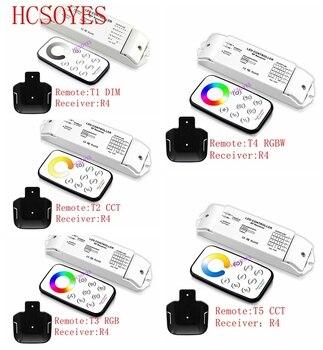 Bincolor T1/T2/T3/T5 + R3 мини радиочастотный беспроводной пульт дистанционного управления светодиодным затемнением/CCT/RGB/CW NW WW светодиодный диммер пр...