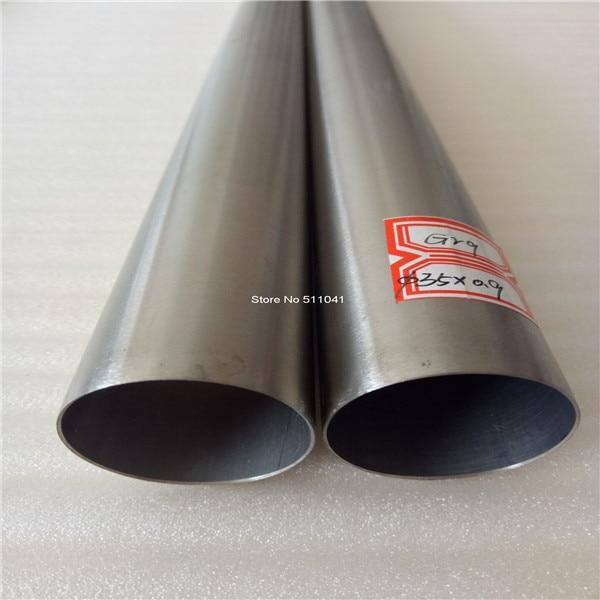Tubes titaniques sans couture de catégorie 9 35mm * 0.9mm * 1000mm, prix de gros de 5 pièces