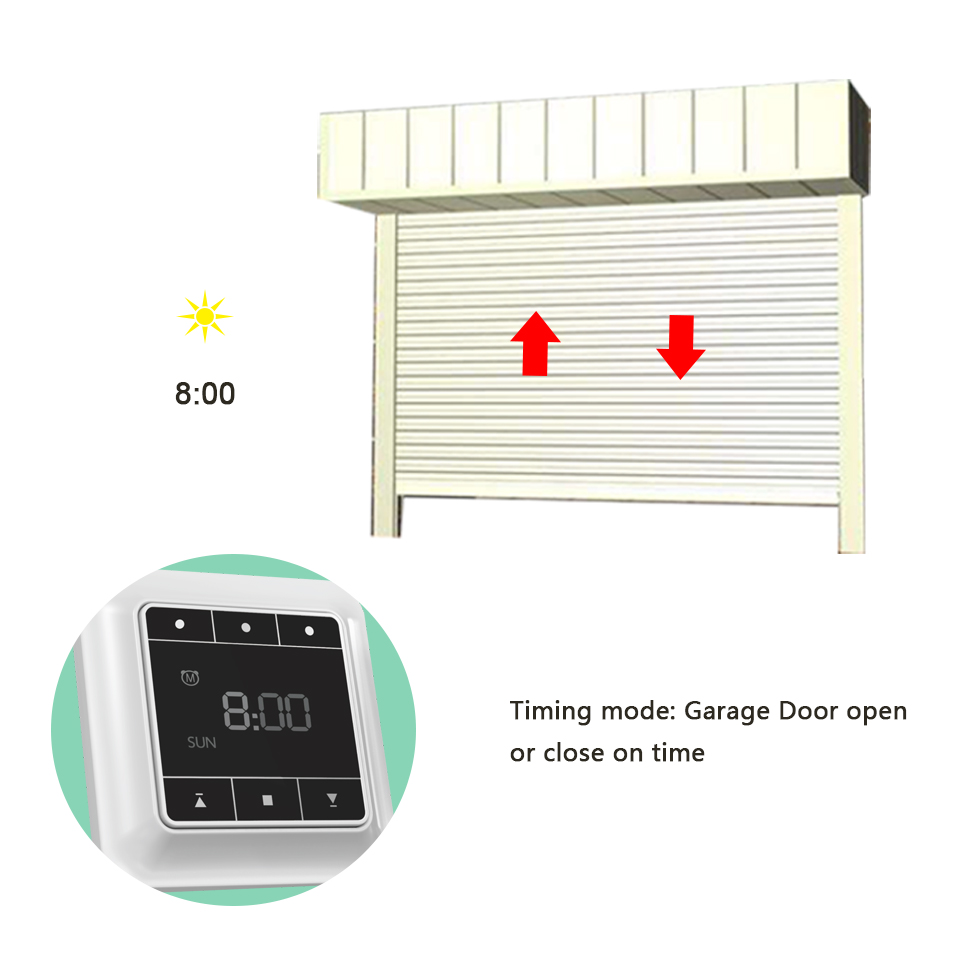 Universal touch timer switch smart timer relay plug for garage door automated curtain shutter blinds for