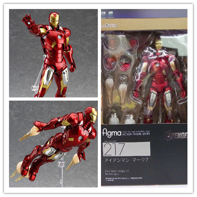 Adjustable cartoon Avengers Iron man action figure statue toy gift for kids 16cm Anime Figure Collectible Model Toy